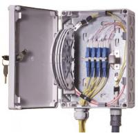 Quality IP55 OF Indoor / Outdoor Fiber Termination Box ,8 Fibers Small Optical Termination Box for sale