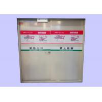 Quality Customized Sizes 40/45/55 mm Galvanized Steel Fire Rated Emergency Exit Metal Doors for sale