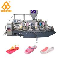 Quality 120-200 Pairs / Hour PVC lady's Sandal Slipper Making Machine Single Color Air Blowing Machine for sale