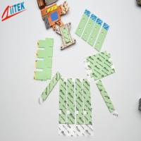 Buy Ultrasoft CPU Heatsink Green 3.0W / m - K silicone thermal gap filler TIF100-30-07E with 35shore00  -50 to 200℃ at wholesale prices