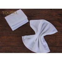Quality 100% Cotton16s Hotel Face Towel White Terry Face Cloth With Embroidered Logo for sale