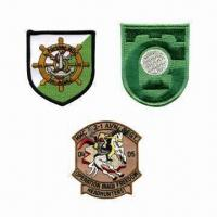 Quality Embroidered Patches, Made of Polyester for sale