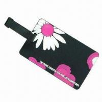 Quality Luggage Tag, Made of PVC, OEM/ODM Orders Welcome, Available in Printed/Embossed/Debossed Logos for sale