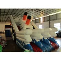 Quality Commercial Inflatable Titanic Dry beauty slide hot inflatable dry ship slide for sale