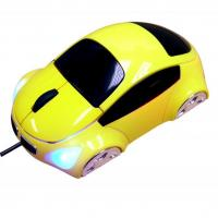 Ergonomics Designed Yellow / Red Car 800DPI High Resolution Basic Optical Mouse for sale