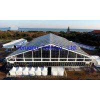 Quality Clear tent with transparent roof cover, aluminium frame structure tent 50 x 60 m for 2500 people for sale
