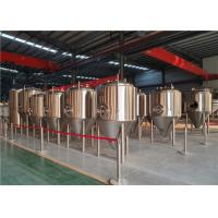 China 3500L 4000L Brewery Stainless Steel Fermentation Tanks With Fully Welded Exterior Shell on sale