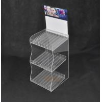 Quality Lipstick 3 Tier Acrylic Display Stand With 24 Compartments Simple Design for sale