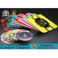 China Square Crystal Acrylic Poker Chips With Custom Logo / Super Touch Texture Poker for sale