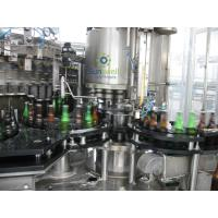 Quality Full Automatic Beer Filling Machine With Rotary / Linear Structure For Glass Bottle for sale