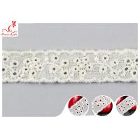 Fashion Embroidered Floral Cotton Eyelet Lace Trim For Nighty Trade Assurance for sale
