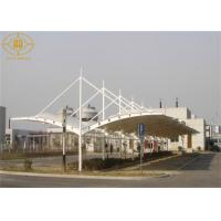 China Prefab Car Parking Shade Double Cantilever High Strength Car Parking Cover on sale