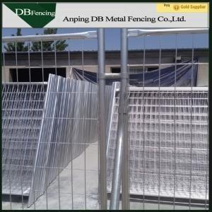 Galvanized Temporary Site Fence Panels Removable Australian Standard
