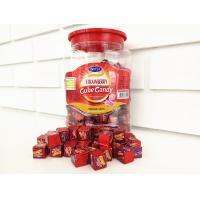 Quality 2.75g Strawberry Flavor Compressed Cube Candy In Jars Good Taste QS / ISO for sale