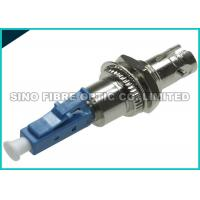 Quality Simplex Metal Flange LC to ST Connector Hybrid Female to Female Adapter for sale