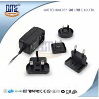 Quality GME Switching Power Adapter , Interchangeable Plug Power Adapter 24VDC for sale