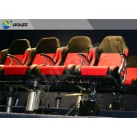 Quality Movie Equipment Pneumatic 7D Cinema System Standard Red Chair With Leg Sweep for sale