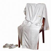China Hotel bath robe for men/women, cotton towel bath robe on sale