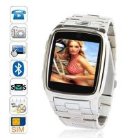 Buy TW810 Fashion 2012 New Stainless Steel Wrist Watch phone with 370 mAh battery at wholesale prices