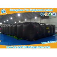 Quality Black Air Hot Welded Inflatable Maze Bounce House For Adults / Kids for sale
