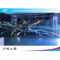 Quality P7.81mm Transparent Led Mesh Curtain , Led Video Wall Display Screen High Resolution for sale