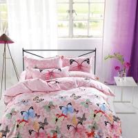 Buy Modern Home Bedroom 4 Piece Bedding Sets 100% Cotton Tancel Material Butterfly Design at wholesale prices