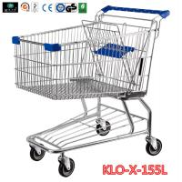 155L Hyper Market / Grocery Shopping Trolley With Transparent Powder Coating