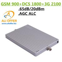 Quality 65dB High Gain 900 1800 2100 MHz Tri-Band Cell Mobile Phone Signal Booster Amplifier,GSM DCS WCDMA 3G TriBand Repeater for sale