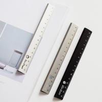 Buy 30cm  Length Silver Color Alkali Anodized Aluminum Ruler for Realia Made in China at wholesale prices