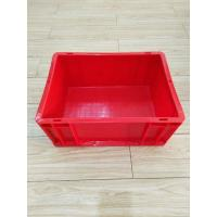 China Virgin Plastic Red Euro Stacking Containers 400*300 mm Conveyor Sorting System Lids Option on sale