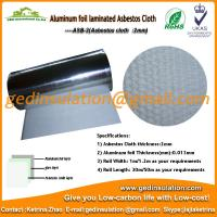 Quality Asbestos Cloth coated aluminum foil As heat insulation materials for sale