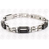 Quality Partial PVD Black Fashion Bracelets for Women , Chain Link Bracelets for sale