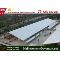 Buy Clear Span Marquee With Glass Fire Door , Steel Clear Span Buildings Windproof White at wholesale prices
