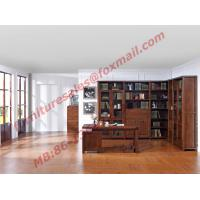 Quality Solid Wooden with Glass Door Material Bookcase Set  for Living Room Furniture for sale