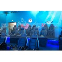 Buy Black Motion Seat Cinema 5D Simulator System With Three Dimensional Movies at wholesale prices