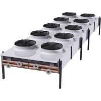 Quality double row sea water liquid to air heat exchanger dry cooler for steel factory cooling for sale