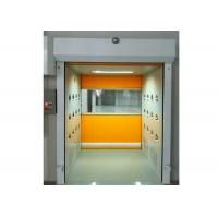 Buy PVC Rolling Shutter Door Cleanroom Air Shower Micro-electronics PLC Control System at wholesale prices