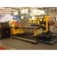 Quality Turning Automatic Pipe Cutting Machine , Flame / Plasma Cutting Guns Tank Welding Machine for sale