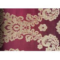 Quality Floral Red Jacquard Woven Fabric Classical Soft With Anti-Static for sale
