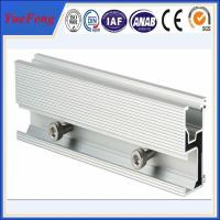 Quality Aluminum extrusion for solar pannel mounting aluminium profile guide rail for sale