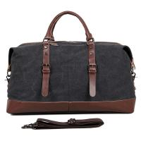 """Quality Large Grey Canvas Mens Luggage Duffel Bags For Outdoor 21.5"""" L X 9.5"""" D X 12"""" H for sale"""