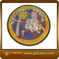 Quality round machine woven patches for sale