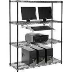 "Quality Black Metal Shelf Shop Storage Display Rack Freestanding Organizer 36""W X 14""D for sale"