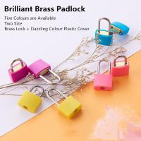 Colorful Mini Brass Padlock 20mm Long Beam Type Customized For Case & Bag