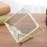 Tabletop Glass Geometric Terrarium for Family Decoration/Flower Pot for sale