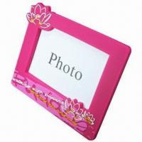 Quality PVC Rubber Photo Holder for Promotion Gifts, Customized Designs, Sizes, Colors Accepted for sale