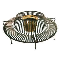Quality Custom Made Metal Home Furniture Circular Outdoor Bench With Back for sale