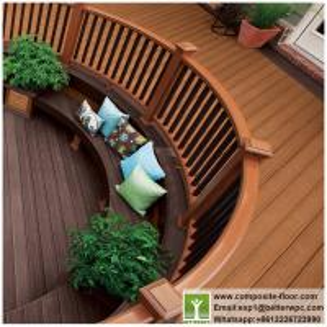 China Wear Resistant WPC Deck Handrails PVC Co-extrusion Composite Railing Cost on sale