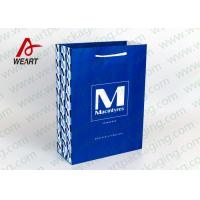 Quality Cotton / Ribbon Handled Medium Christmas Paper Gift Bags /Matte Lamiantion for sale