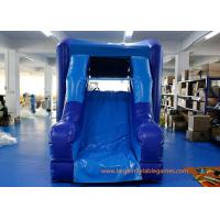 Quality Safety Blue PVC Commercial Inflatable Water Slides For Children for sale